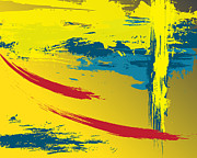 Abstract Movement Originals - Yellow Strong by Ramon Martinez Jr