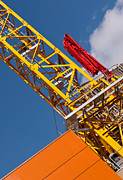 Tower Crane Posters - Yellow Tower Crane Poster by Rick Piper Photography