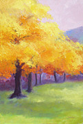 Etc. Painting Posters - Yellow Trees Poster by Sheila Psaledas