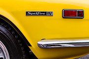 Yellow Triumph Spitfire Print by Jerry Fornarotto