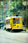 Trolley Photos - Yellow Trolley by Suzanne Barber