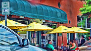 Umbrellas Digital Art - Yellow Umbrellas by Don and Sheryl Cooper