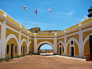 Castillo San Felipe Del Morro Framed Prints - Yellow Walls Framed Print by Ryan Hedrick