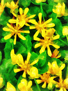 Wild Flower Art - Yellow Wildflowers by Susan Savad