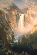 Yellowstone Digital Art Prints - Yellowstone Print by Albert Bierstadt