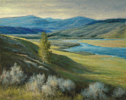 National Park Pastels - Yellowstone Evening by Gary Huber