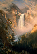 Famous Artists - Yellowstone Falls by Albert Bierstadt