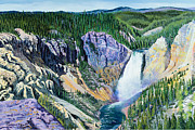 Yellowstone Falls Print by Timithy L Gordon