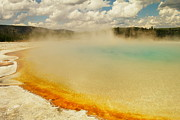 Hot Springs Prints - yELLOWSTONE HOT SPRINGS Print by Jeff  Swan