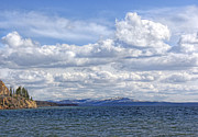 Yellowstone Park Prints - Yellowstone Lake Print by Jennie Marie Schell
