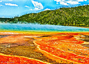 Super Volcano Prints - Yellowstone National Park  Print by Nadine and Bob Johnston