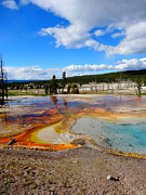 Super Volcano Prints - Yellowstone Reflection Print by Dan Sproul
