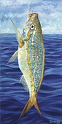 Snapper Painting Prints - Yellowtail on the Menu Print by Danielle  Perry