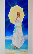 Yemaya Painting Framed Prints - Yemaha II Framed Print by Kcatia Creole Art