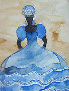 Orisha Paintings - Yemanya by Dimples Gibbs