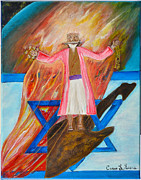 Art-by-cassie Sears Paintings - Yeshua by Cassie Sears