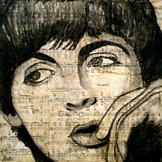 John Lennon  Mixed Media - Yesterday by Debi Pople