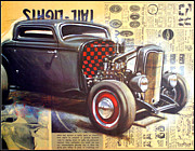 T Bucket Rat Rod Framed Prints - Yesterday HotRod Framed Print by Kip Krause