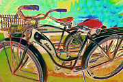 Old Bikes Posters - Yesterday It Seemed Life Was So Wonderful 5D25760 m168 Poster by Wingsdomain Art and Photography