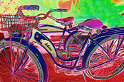 Old Bikes Posters - Yesterday It Seemed Life Was So Wonderful 5D25760 p153 Poster by Wingsdomain Art and Photography