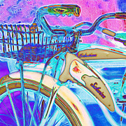 Old Bikes Posters - Yesterday It Seemed Life Was So Wonderful 5D25760 Square Poster by Wingsdomain Art and Photography