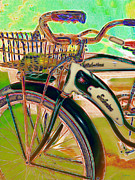 Old Bikes Posters - Yesterday It Seemed Life Was So Wonderful 5D25760 Vertical m168 Poster by Wingsdomain Art and Photography