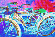 Old Bikes Framed Prints - Yesterday It Seemed Life Was So Wonderful 5D25760 Framed Print by Wingsdomain Art and Photography