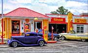 Pumps Painting Prints - Yesterdays Shell Station Print by Michael Pickett