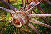 Marty Koch Metal Prints - Yesterdays Wheel Metal Print by Marty Koch