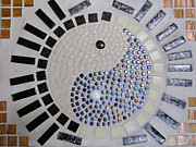 Mosaic Reliefs - Yin and Yang by Lisa Brandel