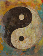 Color Symbolism Painting Prints - Yin Yang Print by Michael Creese