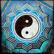 Prana Prints - Yin Yang - The healing of the blue chakra. Print by Dirk Czarnota