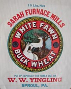 Old Mills Posters - Yingling Mill Buck Wheat Flour Bag Poster by Don Struke