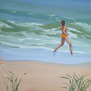 Hamptons Painting Posters - Yippee Poster by Sally Breen