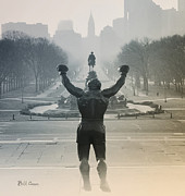 Philadelphia Art Museum Prints - Yo Adrian Print by Bill Cannon