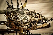 Steampunk Sculpture Framed Prints - Yod Framed Print by Oscar Cabral