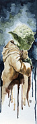 Wars Painting Metal Prints - Yoda Metal Print by David Kraig