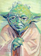 Puppet Paintings - Yoda by Kimberly Santini
