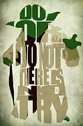 Quote Digital Art Posters - Yoda - Star Wars Poster by Ayse T Werner