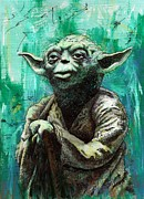 Yoda Framed Prints - Yoda Framed Print by Tom Deacon
