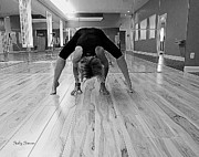 Yoga Images Prints - Yoga 5 Black and White Print by Sally Simon