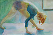Yoga Pose Paintings - Yoga Pose Head to Knee by Robert P Hedden