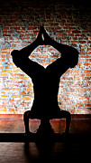 Shannon Beck Acrylic Prints - Yoga Silhouette 3 Acrylic Print by Shannon Beck