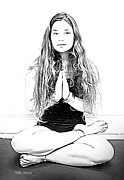 Yoga Images Prints - Yoga Study 2 Print by Sally Simon