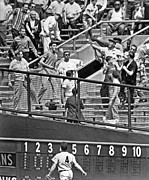 Yankee Stadium Bleachers Art - Yogi Berra Home Run by Underwood Archives