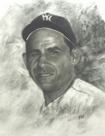 Catcher Drawings - Yogi by Rick Fitzsimons