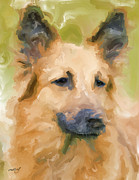 German Shepard Digital Art - Yoko Dog by Ruby Cross