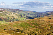 Hilltop Scenes Framed Prints - Yorkshire Dales looking into Swaledale North Yorkshire England UK Europe Framed Print by Jon Boyes