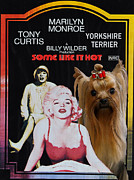 Print Like Paintings - Yorkshire Terrier Art Canvas Print - Some Like It Hot Movie Poster by Sandra Sij