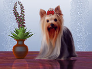 Pup Digital Art - Yorkshire Terrier by Corey Ford
